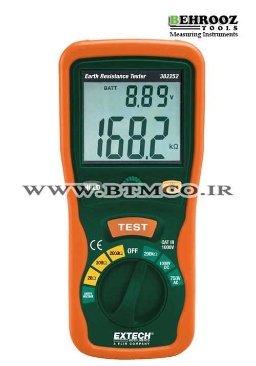 Extech Earth Resistance Tester : ارت سنج میله ای اکستج مدل extech